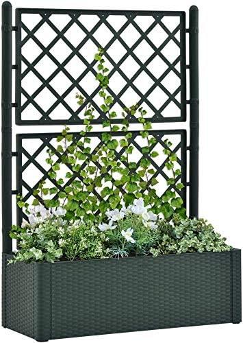 Jin-Siu Raised Bombing new work Max 68% OFF Garden Bed Flower Trellis Planter Box