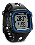 Garmin Forerunner 15 - Reloj deportivo con GPS y monitor de actividad, color negro y azul, talla L