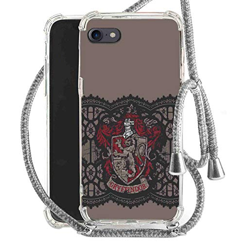 Finoo Mobile Phone Chain Suitable for iPhone 5/5S/SE/5S/SE Harry Potter Mobile Phone Case with Marine Cord Band Protective Case Necklace for Hanging - Gryffindor Stitched