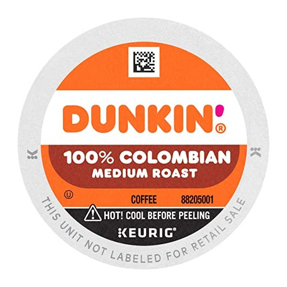 Dunkin' Best Sellers Coffee Variety Pack, 60 Keurig K-Cup Pods 5 Contains 4 boxes of 32 K-Cup pods (128 count total) Original Blend is the coffee that made Dunkin' famous, featuring a rich, smooth taste unmatched by others Medium roast coffee, specially blended and roasted to deliver the same great taste as the brewed Dunkin' coffee available in Dunkin' shops
