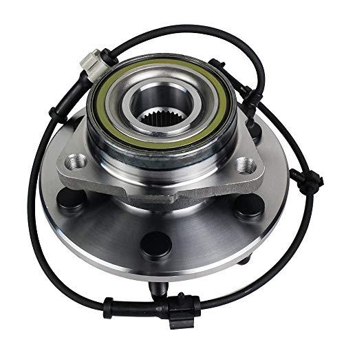 Autoround 515036 Front Wheel Hub and Bearing Assembly for 4x4 4WD Chevy Silverado, Tahoe, Avalanche, Suburban, Express 1500, GMC Sierra, Yukon, Savana, Cadillac Escalade ESV EXT 6 Lug w/ABS