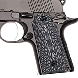 Guuun Kimb Micro Carry 380 ACP G10 Grips with Ambi, Aggressive OPS Crosshatch Texture - Grey