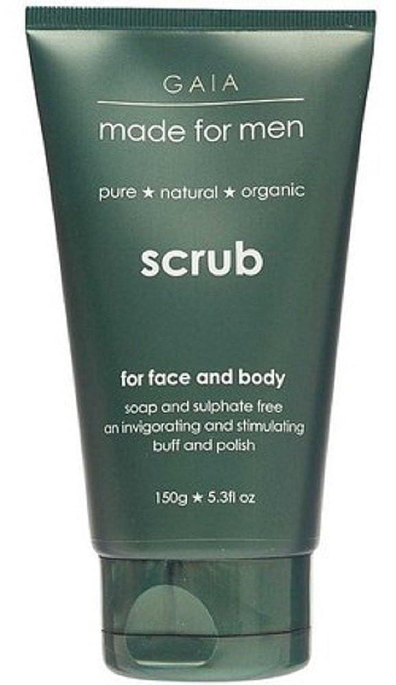 デジタル泥だらけ必要【GAIA】Face & Body Scrub made for men ガイア メンズ フェイス&ボディスクラブ 150g 3個セット