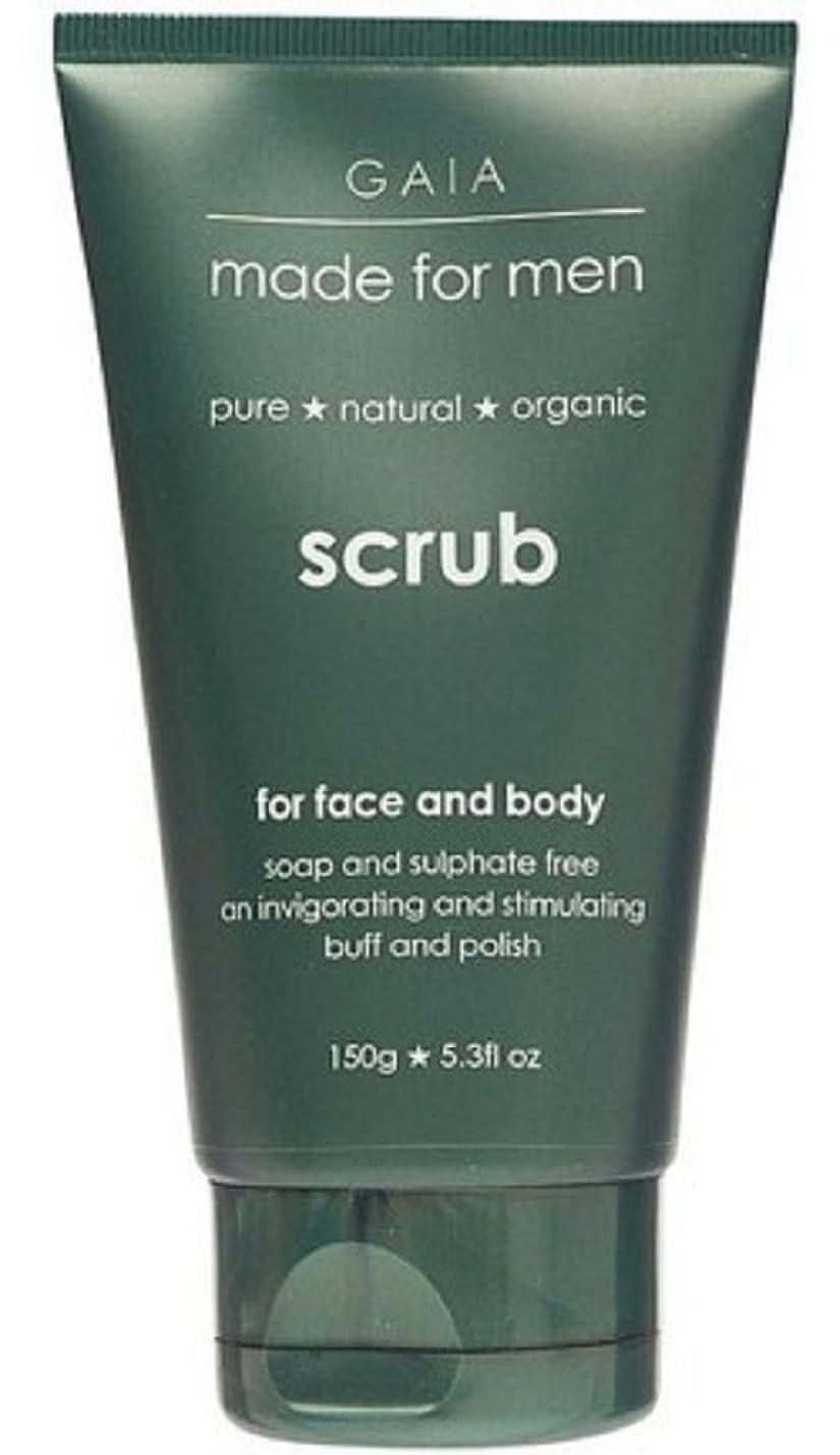 旅客雲渦【GAIA】Face & Body Scrub made for men ガイア メンズ フェイス&ボディスクラブ 150g 3個セット