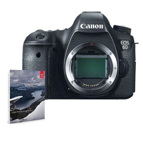 Canon EOS 6D DSLR Camera Body Bundle w/Adobe Photoshop Lightroom 6#8035B002