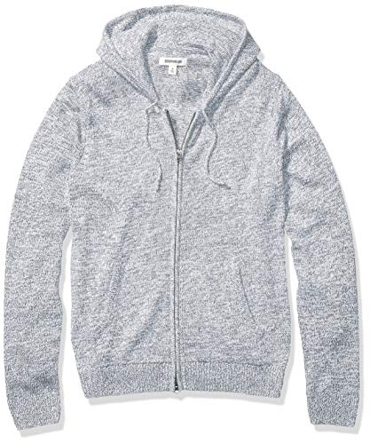 Amazon Brand - Goodthreads Men's Supersoft Marled Fullzip Hoodie Sweater, Denim Medium