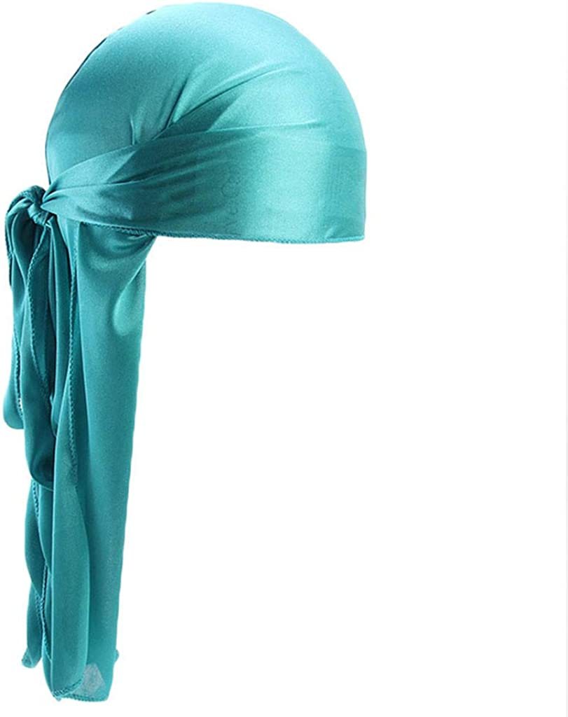 FORUU Hats Men Women Silk Polyester Bandana Head Durag Regular store Tail Rag Excellence