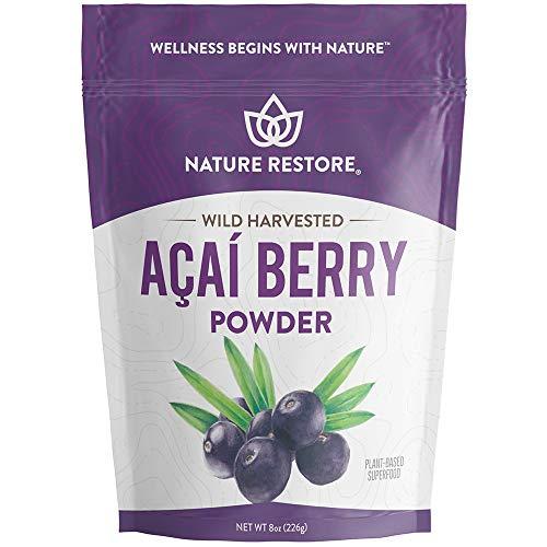 Wild Harvested Acai Berry Powder, 8 Ounces, Non GMO, Gluten Free, Brazilian Wild Grown
