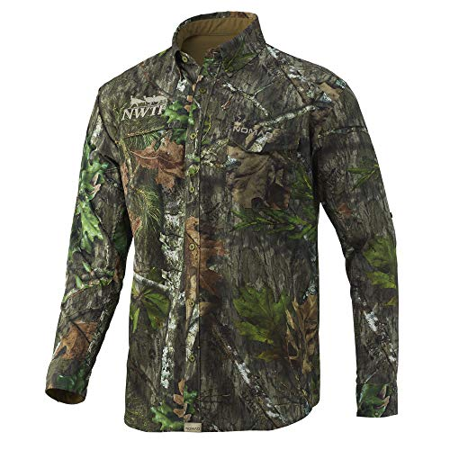 Nomad Mens Nwtf Stretchlite Long Sleeve | Scent Suppressing Camo Shirt, Mossy Oak Obsession, XX-Large