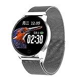 ZLYB Fashion Exquisite Advanced Milanese Magnetischer Fitness Tracker Smart Watch Blutdruckmessgerät Smart Watch Mode Armband Silberstahl