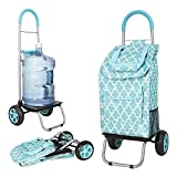 dbest products 01-581 Trolley Dolly, Moroccan Tile Shopping Grocery Foldable Cart