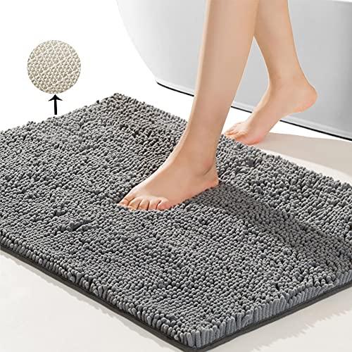 SONORO KATE Bathroom Rug,Non-Slip Bath Mat,Soft Cozy Shaggy Durable Thick Bath Rugs for Bathroom,Easier to Dry, Plush Rugs for Bathtubs, Rain Showers...