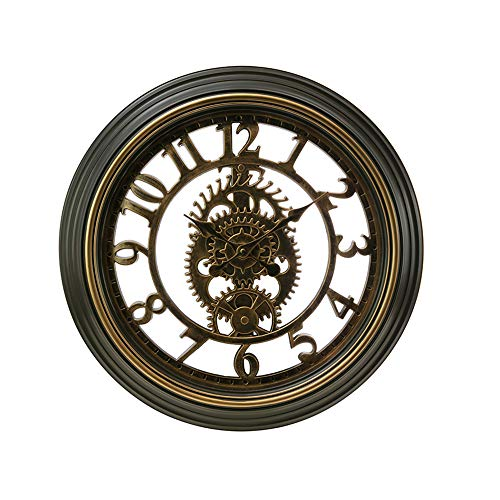 Kiera Grace Gears Horloge murale, 50,8 cm, 5,1 cm de profondeur, finition Bronze