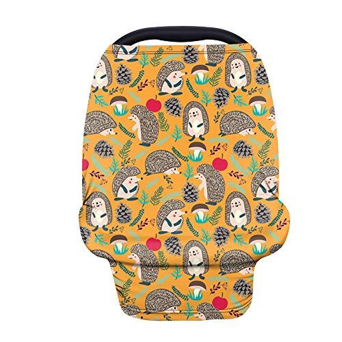 Agroupdream - Funda para asiento de coche para bebé, multifuncional, cubierta de lactancia para silla alta, funda protectora de erizo