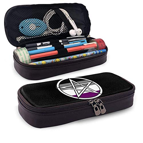 Estuche para lápices Asexual Ace Witch Wiicca Wiccan Star Themed Pattern Mini...