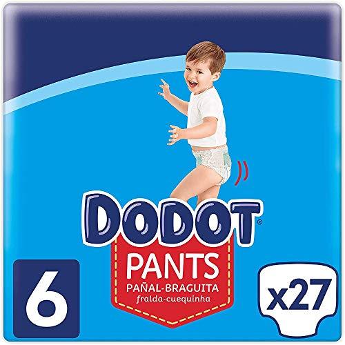 Dodot Pants Pañal-Braguita Talla 6, 27 Pañales, 15kg+, Pañal-Braguita Con Ajuste 360° Anti-fugas