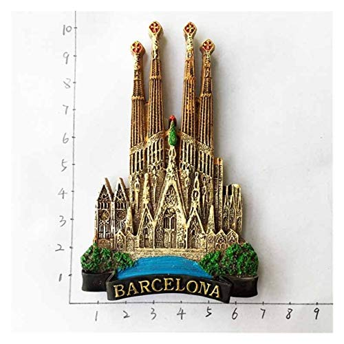 XINGYAO Imanes Decorativos España Refrigerador Imanes Souvenir Cordoba Barcelona Mallorca Sevilla Cantabria Regalos de Viaje Magnético Frigorífico Pegatinas decoración (Color : Barcelona 6)