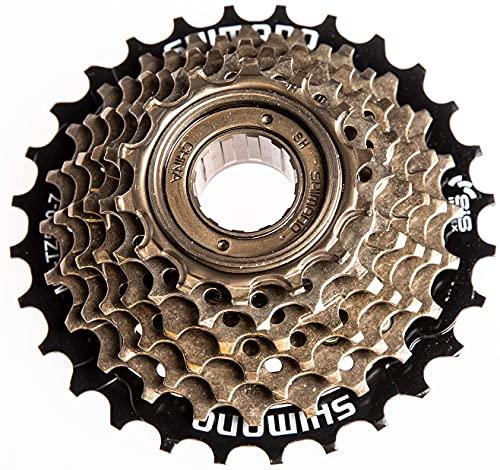 MEGHNA Pignone a Ruota Libera per Bicicletta a 6/7 velocità MF-TZ500-6/7 14-28 T Accessori per Mozzo per Mountain Bike