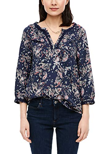 s.Oliver RED Label Damen Bluse mit Paisley-Muster Navy AOP 46