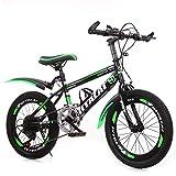 GZMUK Bicicleta Montaña 7 Velocidades Bicicleta Infantil para Niña, Niño, Hombre Y Mujer,Estructura De Acero Al Carbono,Asiento Regulable,Verde,20 in