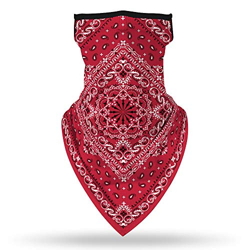 TAGVO Unisex Bandana Face Mask Face Cover with Ear Loop, Windproof...