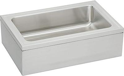 Elkay EFS3321C Stainless Steel Single Bowl Floor Mount Servive Sink Package