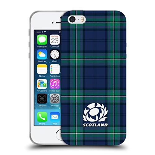 Head Case Designs Ufficiale Scotland Rugby Scozzese Logo 2 Cover in Morbido Gel Compatibile con Apple iPhone 5 / iPhone 5s / iPhone SE 2016