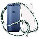 mtb more energy® Handykette kompatibel mit Huawei P10 (VTR-L09, L29 / 5.1'') - Maritim - Smartphone Hülle zum Umhängen - Anti Shock Strong TPU Hülle