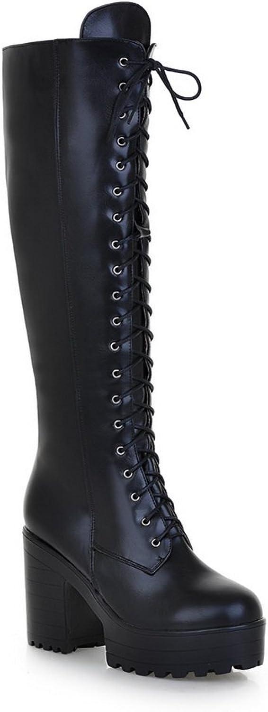 AdeeSu Womens Platform Slip-Resistant Fashion Urethane Boots SXC02034