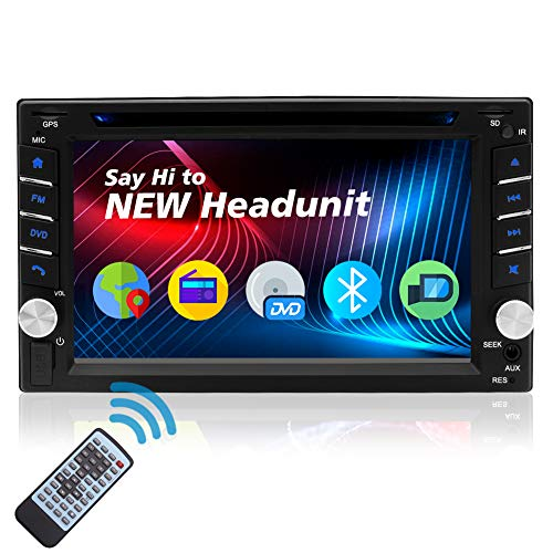 2 Din Car Stereo Bluetooth 6.2 Inch Touch Screen Auto Radio Car DVD Player Double Din Touchscreen Head Unit in Dash GPS Receiver Multimedia System Support Backup Camera AM/FM USB Aux WiFi MP5 SWC