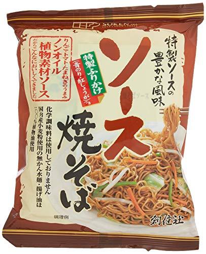 [創健社] 即席 ソース焼そば 111.5g×5 /国内産小麦粉100% 使用した麺