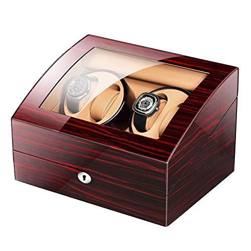 N\C Cajas giratorias para Relojes Watch On The Clockwork Box-4 Tipos de expositores automáticos con cerraduras (4 + 6) Personalizados (Color Raro) ZZST