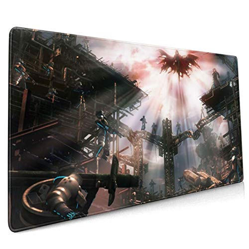 Dekika Dirge of Cerberus-Final Fantasy VII Gaming Mouse Pad 15.8x35.5in,Soft Big Japanese Anime Style Mouse Mat for Computer Desk Pad