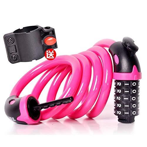 Stalen kabelslot, Combinatieslot, driewieler, kleine auto, ketting, ijzeren kettingslot roze