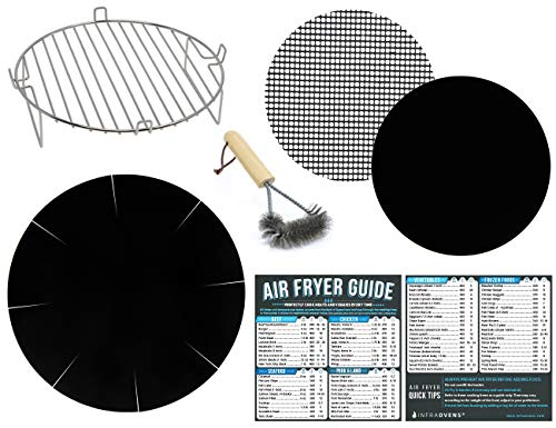 Air Fryer Rack Accessory Kit Compatible with Ninja, Power Airfryer Oven, Chefman, Costway, Maxi-Matic, Costzon, Chulux, Farberware, FrenchMay, Flexzion +More| Best for 3.2, 3.7, 4.2 QT Airfriers