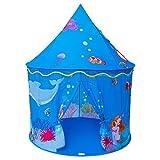 Homfu Spielzelt für Kinder Meerjungfrau Schloss Spielhaus für Mädchen Jungen Ozeanwelt Muster...