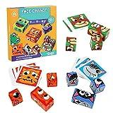 Expressions - Juguete de bloques de madera a juego, juegos de rompecabezas educativos, juguete de bloques de construcción de cubos para niños en edad preescolar de 3 años en adelante 3 4 5 6 7 8+