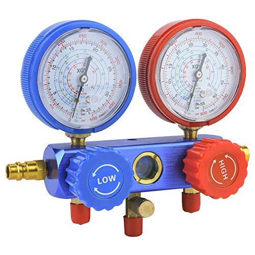 Conjunto de válvulas de medidores multifuncionais profissionais, ar condicionado de alta qualidade, para uso doméstico Fácil de usar Trabalhador de manutenção Fácil de ler
