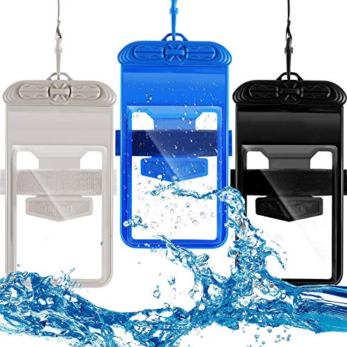 3 Pieces Universal Waterproof Case with Armband Waterproof Pouch Waterproof...