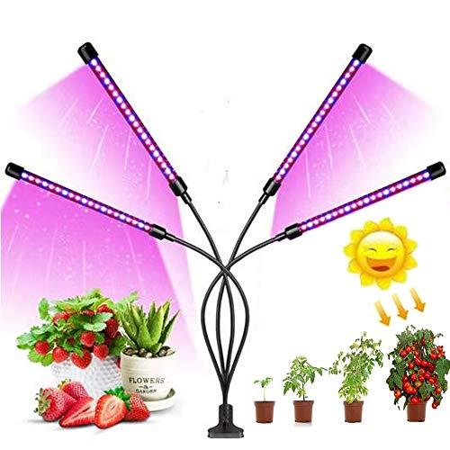 Ellecutteyi Lampada Piante Coltivazione Luminosità Led Lampada Crescente Spettro Completo con Timer Automatico 3H 9H 12H per Vegetali Fiore Luce