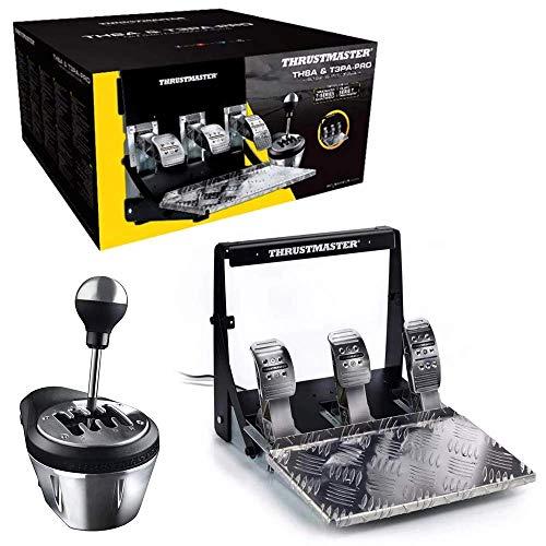 Thrustmaster pack boîte de vitesses TH8A Add-On + pédalier 3 pédales 100% métal T3PA-PRO compatible PC / PS4 / Xbox One