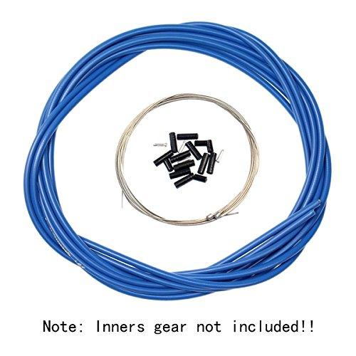 Aulola anteriore e posteriore interno esterno filo freno Gear cable set, Blue