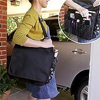 LENASH 軽い車の収納バッグ車のタブレットコンピューターのファイル収納袋 (Color : Black+Red Line)