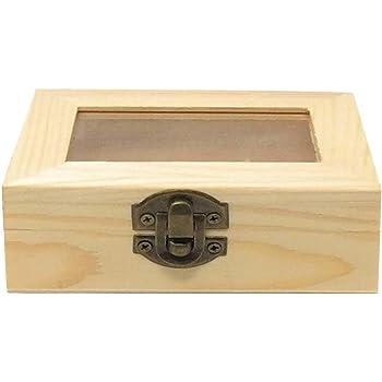 C1 Todo menaje - Caja de Madera con Tapa Cristal: Amazon.es: Hogar