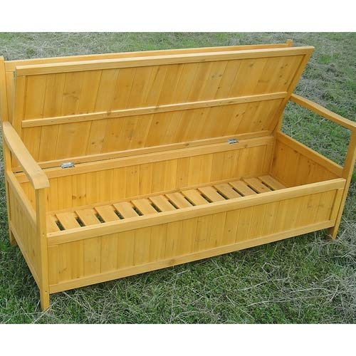 Holz Truhenbank Sitzbank Gartenbank Holztruhe Holzbank Auflagenbox Gartenbox - 8