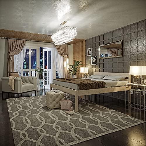 Seniorenbett 160x200 cm Anu Scandi Style aus hartem FSC Birken Vollholz - über 700 kg - Holzbett 55 cm mit hohem Kopfteil - Stabiles Doppelbett für Senioren - Ehebett