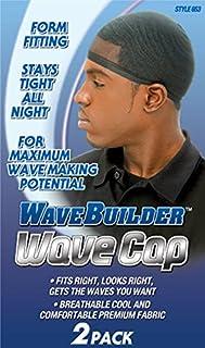 WaveBuilder Wave Cap | Promotes Healthy and Uniform Hair Waves, Black, 2 Count
