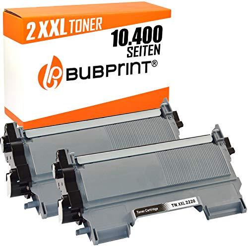 2 Bubprint Toner kompatibel für Brother TN-2220 TN-2010 MFC-7360N DCP-7055 HL-2130 DCP-7065DN Fax 2840 HL-2270DW MFC-7460DN MFC-7860DW TN2220 schwarz