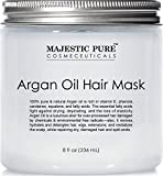 Argan Hair Mask by Majestic Pure, Natural Hair Care Product, Hydrating & Restorative Hair Repair Mask - 8 fl Oz