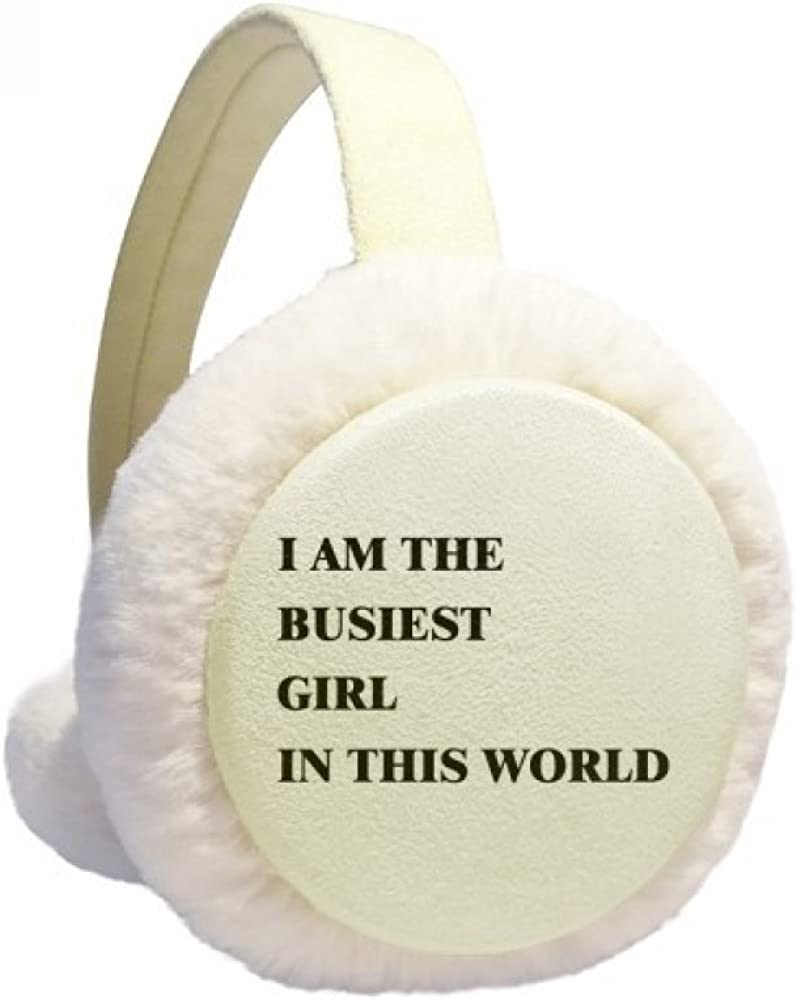 I Am The Busiest Girl Winter SEAL limited product Knit Cable Limited time for free shipping Fleece Ear Warmer Furry